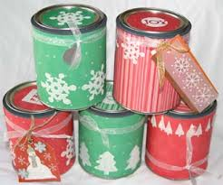 christmas gift card tins altered christmas paint cans scrapbooking families