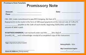 4 promissory note sample template day care receipts