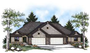 duplex home plan with european flair 89295ah architectural duplex home plan with european flair 89295ah 01