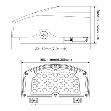 led full cutoff wall pack dusk 30w 100 150w hps hid