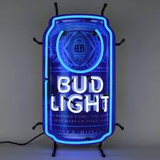 bud light neon light light can neon sign