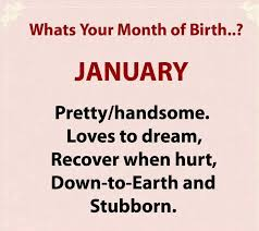 what s your month of birth