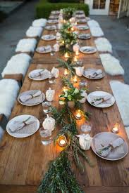 Centerpiece For Dining Table by Best 20 Rustic Dinner Tables Ideas On Pinterest Dinner Party