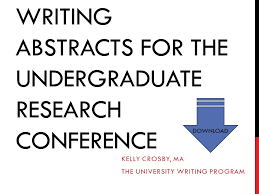 how to write an abstract for the undergraduate research