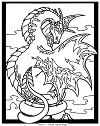 from legendary dragons stained glass coloring book dover