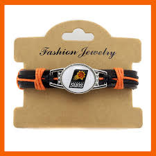 gifts for basketball fans top quality phoenix suns basketball team genuine leather bracelet