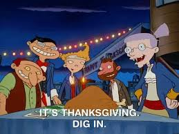 thanksgiving dinner gif by hey arnold find on giphy