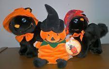 halloween black cat stuffed animal ebay