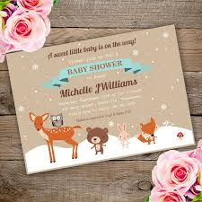 woodland baby shower invitations winter woodland baby shower invitation template edit with adobe