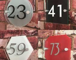 glass door number signs door number etsy