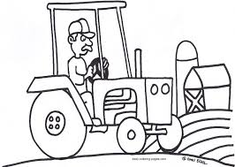 tractor trailer coloring page trucks tractors and diggers pinter