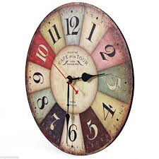 aliexpress com buy vintage wooden wall clock shabby chic rustic