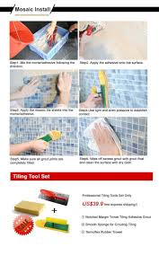 aluminum plate adhesive self adhesive mosaic tiles for kitchen