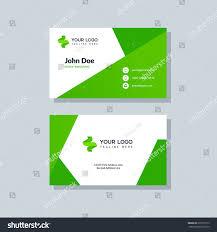 modern green business card template flat stock vector 619591913