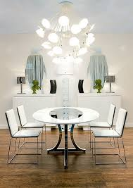 Dining Room Furniture Miami Modern Deco Dining Room With Table And White Chairs