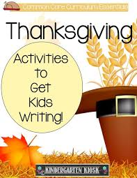 thanksgiving writing activities kindergarten kiosk