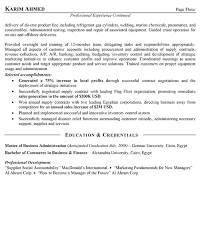 Sample Resume Business by International Sales Resume Example