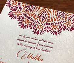 new letterpress indian wedding card designs 3 new south asian