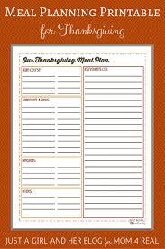 thanksgiving menu meal planning free printable thanksgiving menu