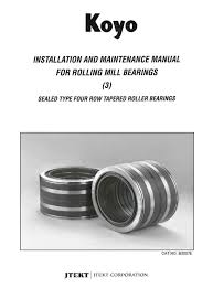b3007e installation u0026 maintenance rolling mill bearings sealed