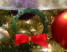 how to make a wreath bicycle chain ornament