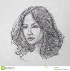 pencil sketches faces women pencil sketch of woman face drawing
