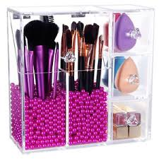 Box Makeup lifewit acrylic makeup brush holder dustproof box organizer with
