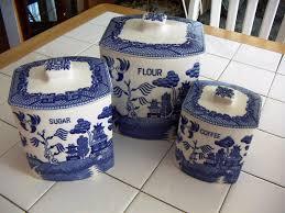 blue kitchen canister set kitchen jar set cobalt glass dinnerware set kitchen canister sets