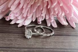 scalloped wedding band 2 15 ct oval cut dainty solitaire engagement wedding ring with
