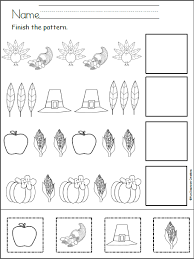 thanksgiving cut and paste worksheets the best and most