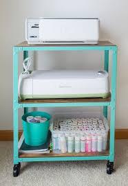 Under Desk Printer Stand With Wheels Office And Craft Room Storage Printer Cart 52 Weeks Workspace