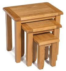 monchique oak nest of side tables with a variety of purposes