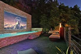 Backyard Projector Screen by Beverly Crest Outdoor Projector Beverly Hills Contemporary