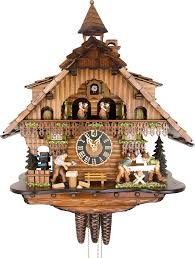 cuckoo clock 1 day movement chalet style 46cm by hönes 6275t