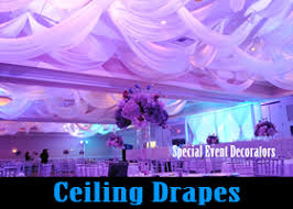 Ceiling Draping For Weddings Special Event Decorators