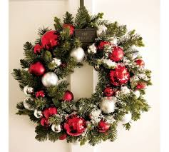 Christmas Wreath Decorations To Make by Use A Coat Hanger And Ornaments To Make A Beautiful Christmas Wreath