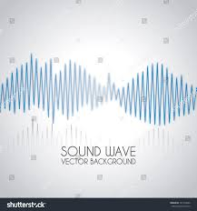 sound wave design over gray background stock vector 141278680