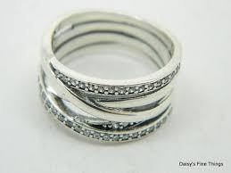 Pandora Wedding Rings by Authentic Pandora Entwined Ring 190919cz Size 54 Ebay