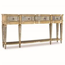 hooker sofa tables hooker furniture 3008 85003 sanctuary 3 drawer antique mirror and