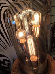 glass dome table lamp sua043