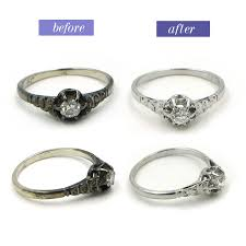 wedding ring repair before after restorations at the jewelry box of lake forest