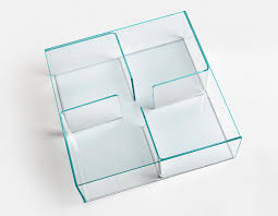 contemporary coffee table glass curved glass square quadra