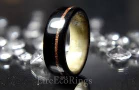 deer antler wedding ring with bog oak wood 2442879 weddbook