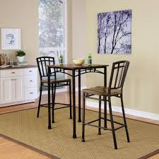 3 piece dining room set home styles modern craftsman 3 piece deep brown bar table set 5050