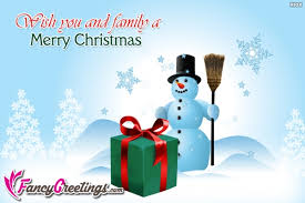wish you and family a merry