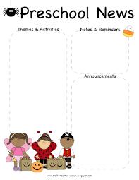 9 best images of preschool monthly newsletter template october