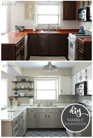 Remodeling Kitchen Cabinets On A Budget Kitchen Reveal 80s To Awesome Professional Painters Enamel