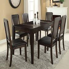Espresso Dining Room Set by Goldcliff Walnut Finish Espresso Pu 7 Piece Dining Table Set