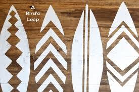 a bird u0027s leap diy surfboard headboard or wall art