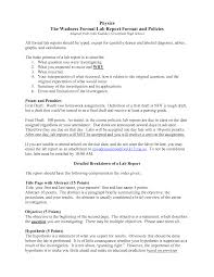 Formal Essay Examples Writing A Good Lab Report Example